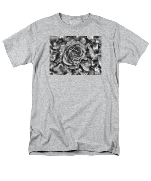 Men's T-Shirt  (Regular Fit) featuring the pyrography Yury Bashkin Black Rose by Yury Bashkin