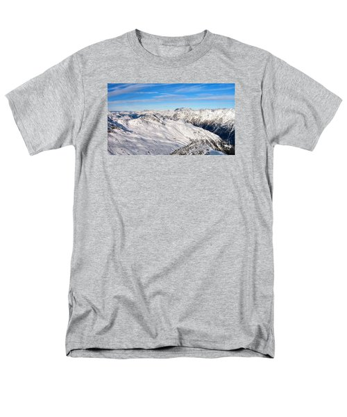 Men's T-Shirt  (Regular Fit) featuring the pyrography Yury Bashkin Mountains by Yury Bashkin