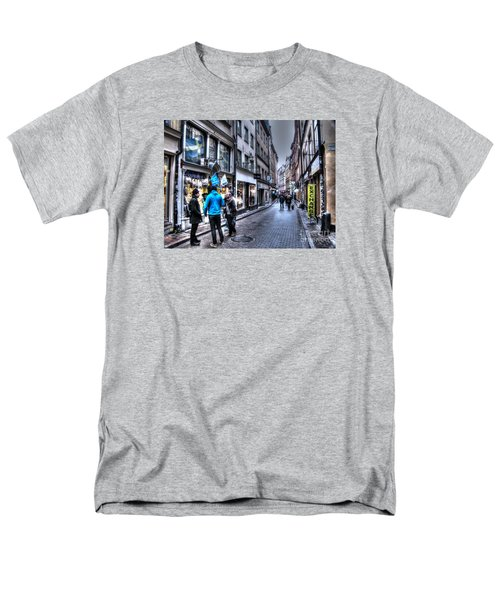 Men's T-Shirt  (Regular Fit) featuring the pyrography Yury Bashkin Stokholm Street by Yury Bashkin