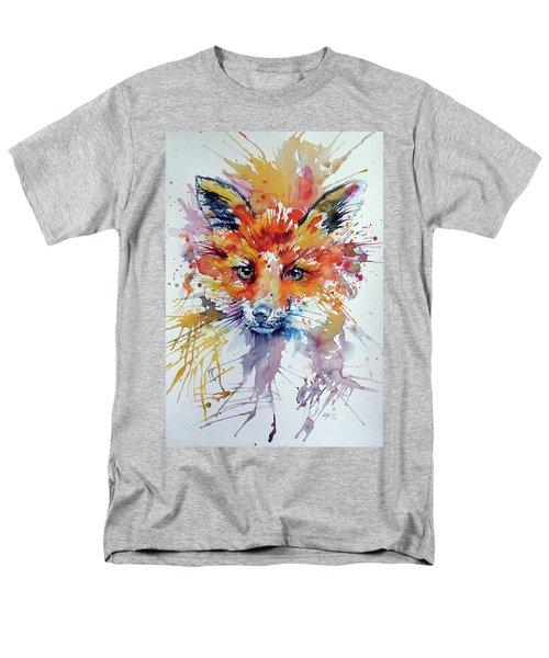 Red Fox Men's T-Shirt  (Regular Fit)