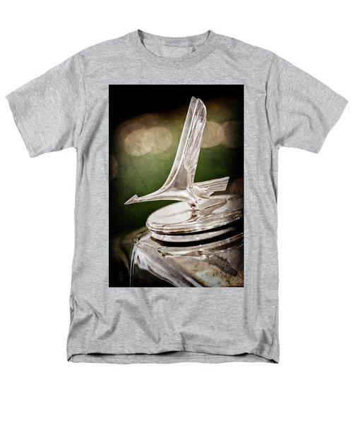 Men's T-Shirt  (Regular Fit) featuring the photograph 1932 Studebaker Dictator Hood Ornament -0850ac by Jill Reger