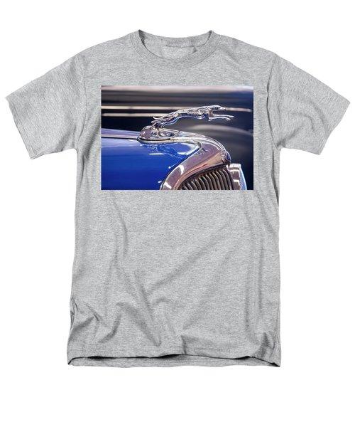 Men's T-Shirt  (Regular Fit) featuring the digital art 1934  Ford Greyhound Hood Ornament by Chris Flees