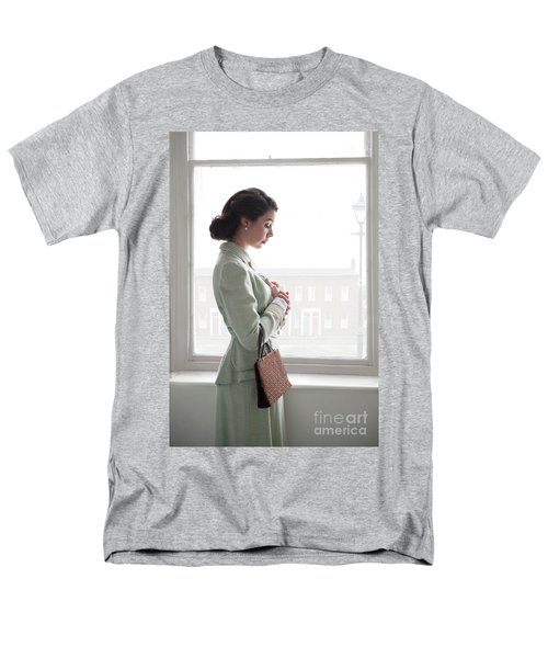 1940s Woman At The Window Men's T-Shirt  (Regular Fit) by Lee Avison
