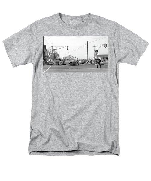 1957 Car Accident Men's T-Shirt  (Regular Fit) by Paul Seymour