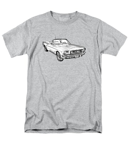 1965 Red Ford Mustang Convertible Drawing Men's T-Shirt  (Regular Fit) by Keith Webber Jr
