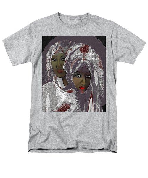 Men's T-Shirt  (Regular Fit) featuring the digital art 1969 -  White Veils by Irmgard Schoendorf Welch