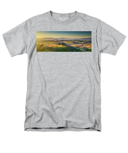 A Golden Morning In Tuscany Men's T-Shirt  (Regular Fit) by JR Photography