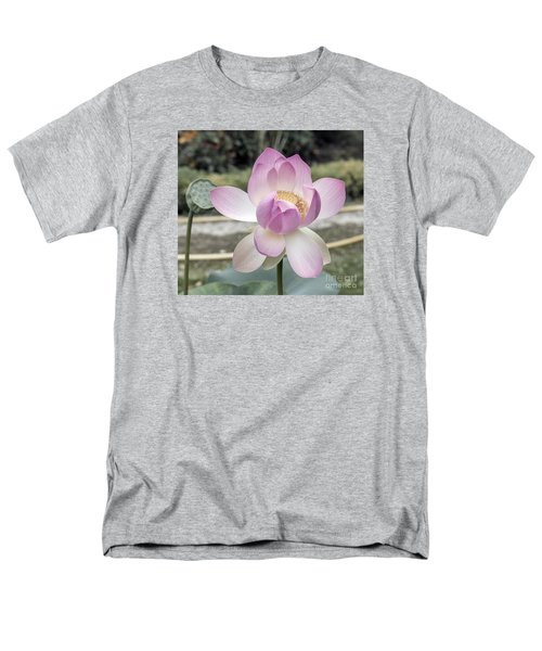 Men's T-Shirt  (Regular Fit) featuring the photograph Beautiful Indian Lotus by Odon Czintos