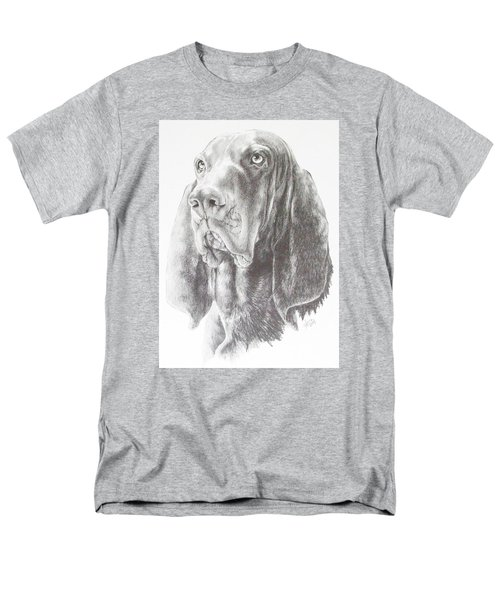 Black And Tan Coonhound Men's T-Shirt  (Regular Fit) by Barbara Keith