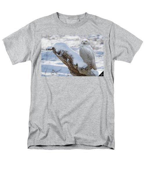 Men's T-Shirt  (Regular Fit) featuring the photograph Snowy Owl by Jim  Hatch