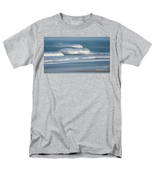 Windy Seas In Cornwall Men's T-Shirt  (Regular Fit) by Nicholas Burningham