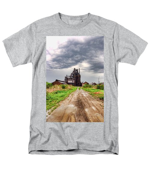 Men's T-Shirt  (Regular Fit) featuring the photograph Bethlehem Steel by Michael Dorn