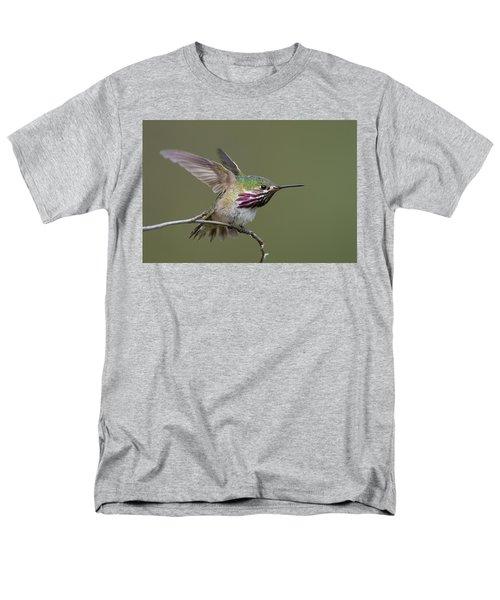 Calliope Hummingbird Men's T-Shirt  (Regular Fit) by Doug Herr