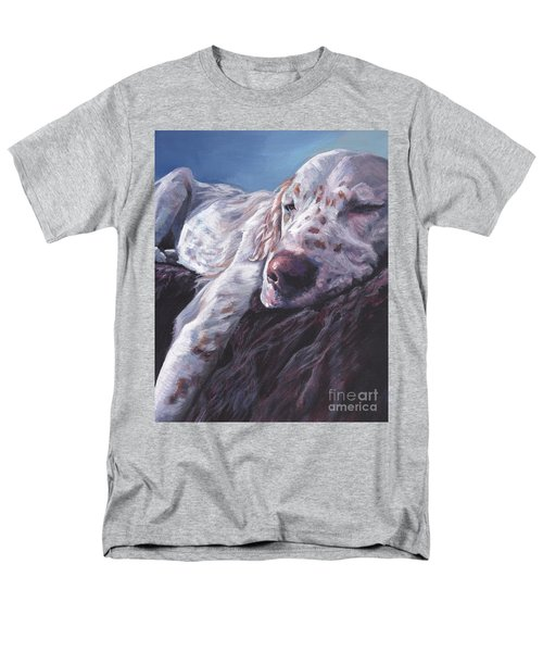 Men's T-Shirt  (Regular Fit) featuring the painting English Setter by Lee Ann Shepard