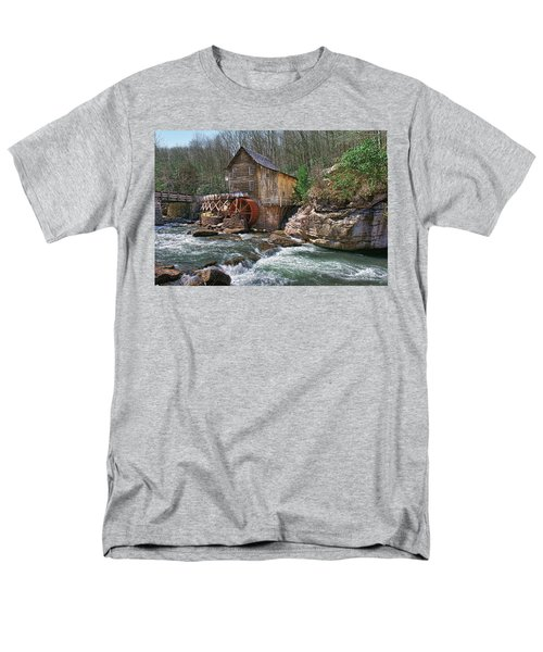 Glade Creek Grist Mill Men's T-Shirt  (Regular Fit) by Mary Almond
