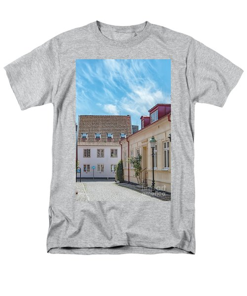 Men's T-Shirt  (Regular Fit) featuring the photograph Ystad Street Scene by Antony McAulay
