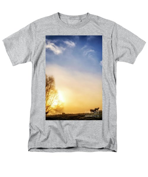 Men's T-Shirt  (Regular Fit) featuring the photograph Misty Mountain Sunrise by Thomas R Fletcher