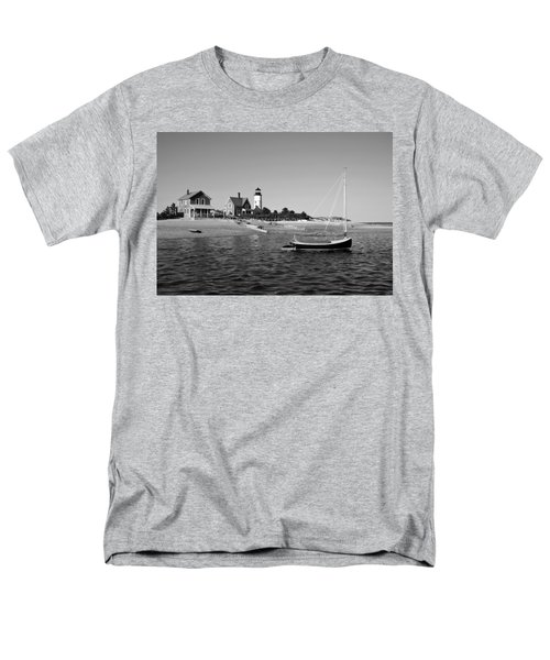 Men's T-Shirt  (Regular Fit) featuring the photograph Sandy Neck Lighthouse by Charles Harden