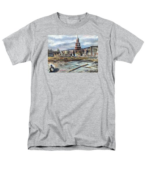 Men's T-Shirt  (Regular Fit) featuring the painting Union University Jackson Tennessee 7 02 P M by Randol Burns