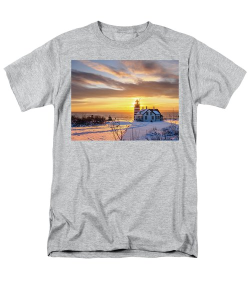 West Quoddy Head Lighthouse Men's T-Shirt  (Regular Fit) by Trace Kittrell