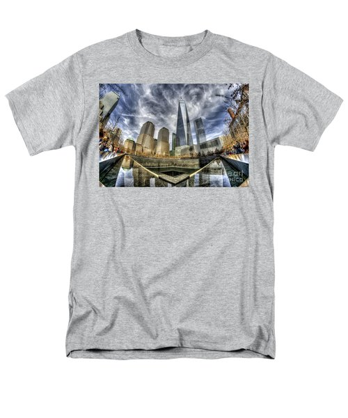 9/11 Memorial - Nyc Men's T-Shirt  (Regular Fit) by Rafael Quirindongo