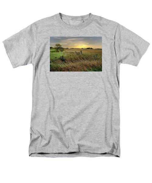 Men's T-Shirt  (Regular Fit) featuring the photograph A Field Of Gold by Judy  Johnson