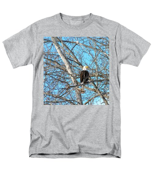 Men's T-Shirt  (Regular Fit) featuring the photograph A Majestic Bald Eagle by Will Borden