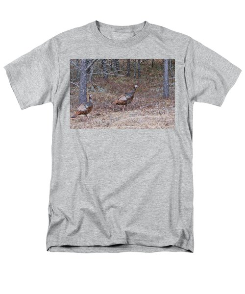 Men's T-Shirt  (Regular Fit) featuring the photograph A Pair Of Turkeys 1152 by Michael Peychich