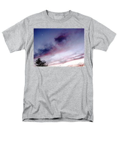 Men's T-Shirt  (Regular Fit) featuring the photograph A Sliver Of Moon by Melissa Stoudt