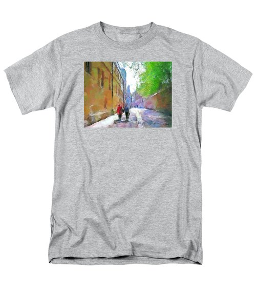 Men's T-Shirt  (Regular Fit) featuring the painting A Stroll In The Alley by Wayne Pascall