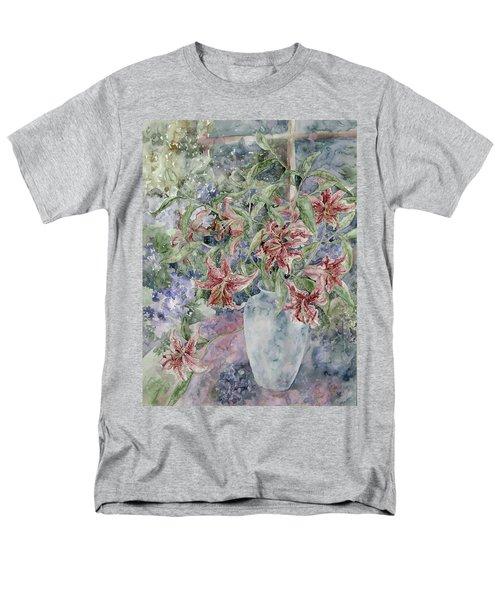 A Vase Of Lilies Men's T-Shirt  (Regular Fit) by Kim Tran
