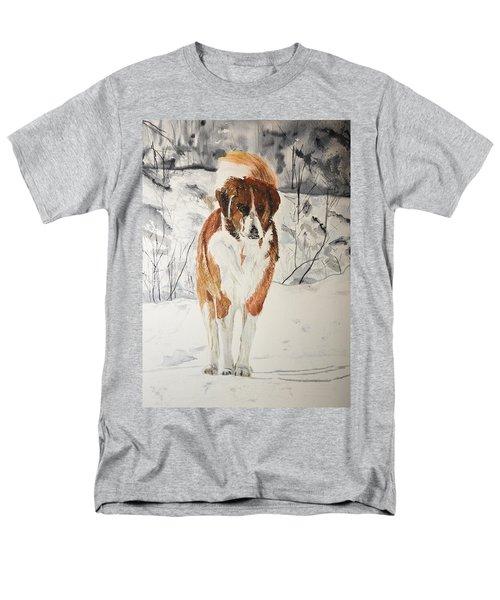 A Winter Walk Men's T-Shirt  (Regular Fit) by Betty-Anne McDonald
