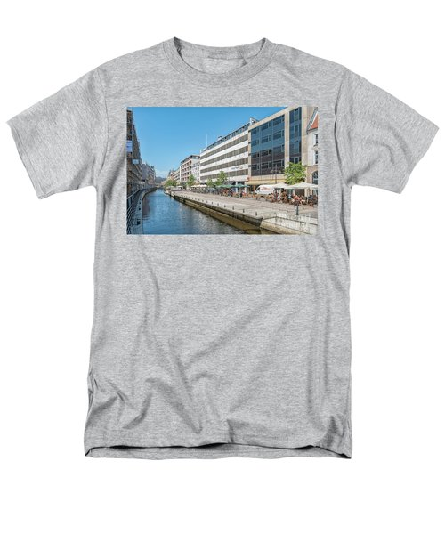 Men's T-Shirt  (Regular Fit) featuring the photograph Aarhus Canal Activity by Antony McAulay