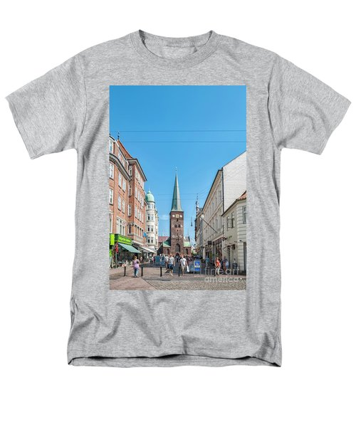 Men's T-Shirt  (Regular Fit) featuring the photograph Aarhus Street Scene by Antony McAulay