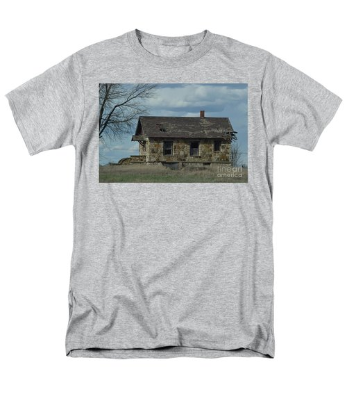 Men's T-Shirt  (Regular Fit) featuring the photograph Abandoned Kansas Stone House by Mark McReynolds