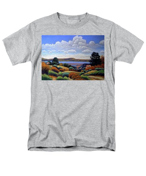 Men's T-Shirt  (Regular Fit) featuring the painting Above San Mateo by Gary Coleman