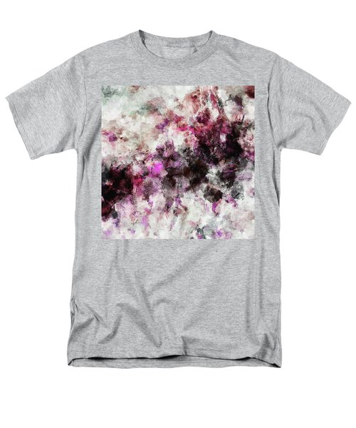Men's T-Shirt  (Regular Fit) featuring the painting Abstract Landscape Painting In Purple And Pink Tones by Ayse Deniz