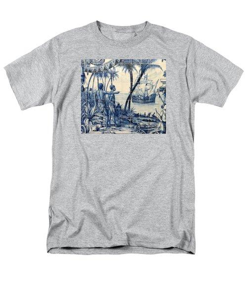 African Tile Art Men's T-Shirt  (Regular Fit) by John Potts