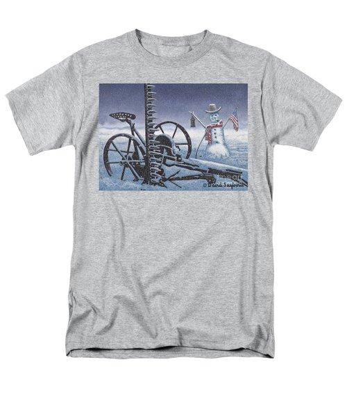 After The Harvest Snowman Men's T-Shirt  (Regular Fit) by John Stephens
