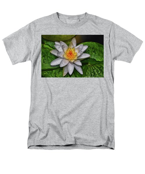 Men's T-Shirt  (Regular Fit) featuring the photograph After The Rain - Water Lily 003 by George Bostian