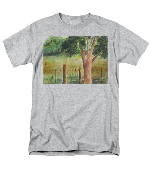 Men's T-Shirt  (Regular Fit) featuring the painting Afternoon Chat by Vicki  Housel