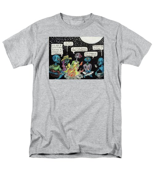 Aliens By The Campfire Men's T-Shirt  (Regular Fit)