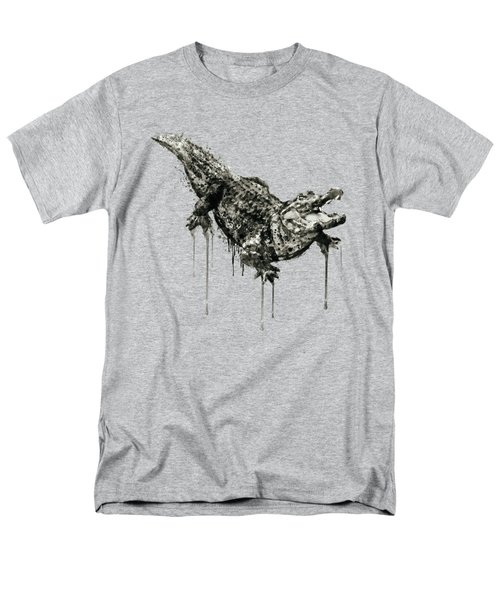 Alligator Black And White Men's T-Shirt  (Regular Fit) by Marian Voicu