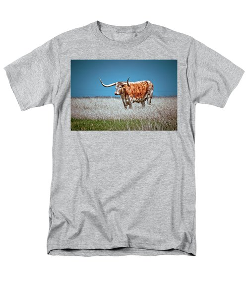 Men's T-Shirt  (Regular Fit) featuring the photograph Alone On The Trail by Linda Unger