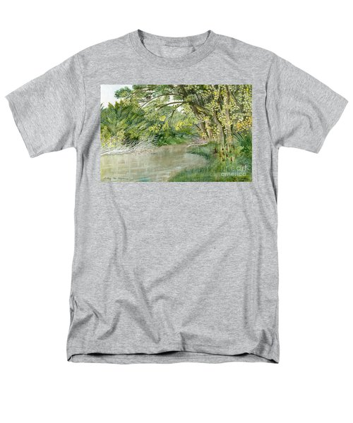 Men's T-Shirt  (Regular Fit) featuring the painting Along The Susquehanna by Melly Terpening
