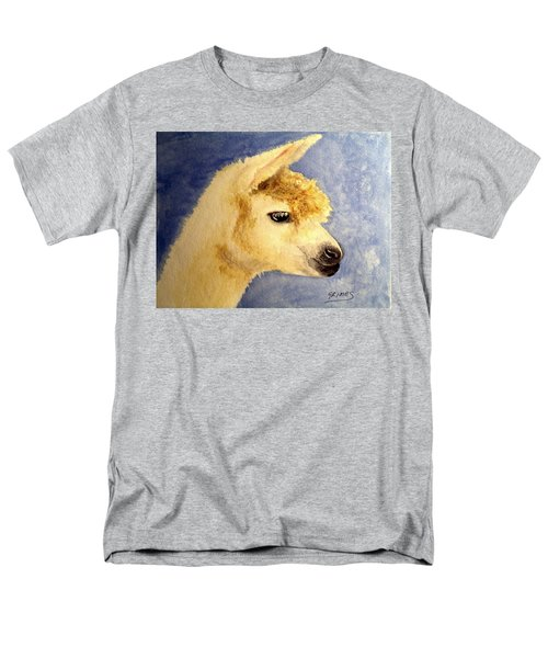 Men's T-Shirt  (Regular Fit) featuring the painting Alpaca Baby by Carol Grimes