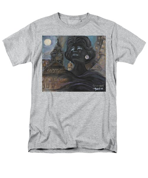 Men's T-Shirt  (Regular Fit) featuring the painting Amalia Rodrigues Tribute by AmaS Art