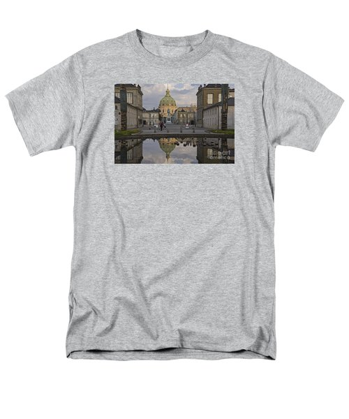 Men's T-Shirt  (Regular Fit) featuring the photograph Amalienborg Castle And The Marble Church by Inge Riis McDonald