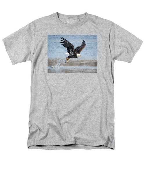 American Bald Eagle Taking Off Men's T-Shirt  (Regular Fit) by Ricky L Jones