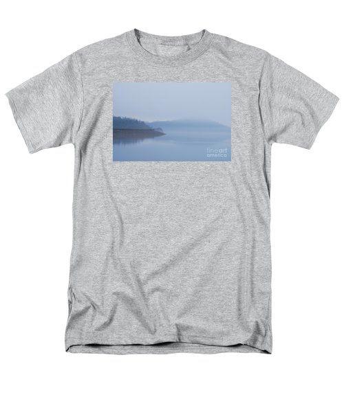 Men's T-Shirt  (Regular Fit) featuring the photograph American Coot In Misty Fog 20120316_40a by Tina Hopkins